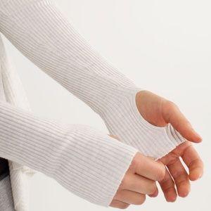 lululemon athletica Sweaters - Lululemon Enlightened Pullover in Heathered White
